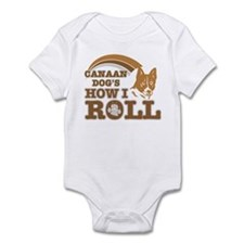 canaan dog's how I roll Infant Bodysuit