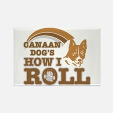 canaan dog's how I roll Rectangle Magnet