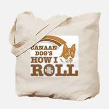 canaan dog's how I roll Tote Bag
