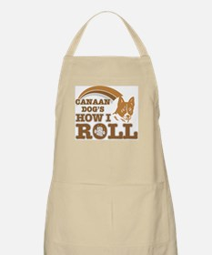 canaan dog's how I roll BBQ Apron