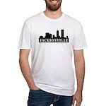 Jacksonville Skyline Fitted T-Shirt