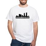 Jacksonville Skyline White T-Shirt
