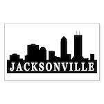 Jacksonville Skyline Rectangle Sticker 10 pk)