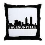 Jacksonville Skyline Throw Pillow