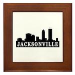 Jacksonville Skyline Framed Tile