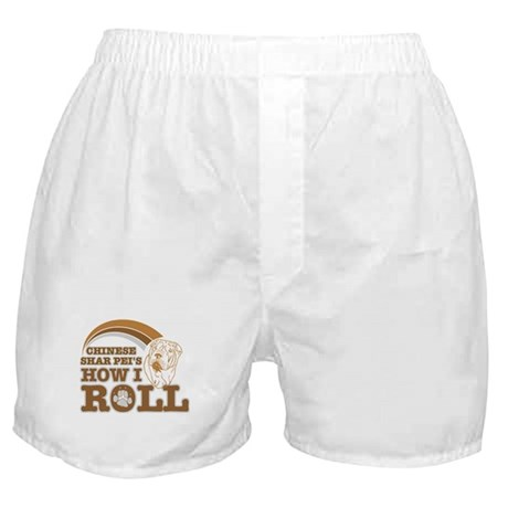 chinese shar pei's how I roll Boxer Shorts