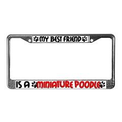Miniature Poodle License Plate Frame