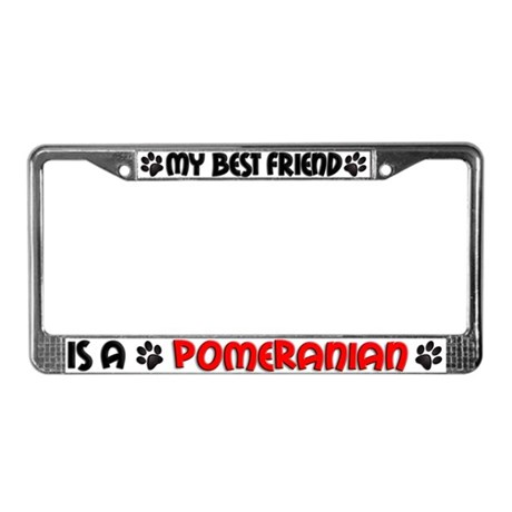 Pomeranian License Plate Frame
