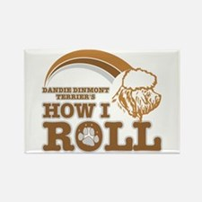 dandie dinmont terrier's how I roll Rectangle Magn