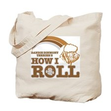 dandie dinmont terrier's how I roll Tote Bag