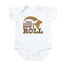 field spaniel's how I roll Infant Bodysuit