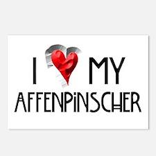 Affenpinscher Postcards (Package of 8)