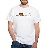 Christian basketball Mens Classic White T-Shirts