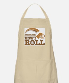 greater swiss mountain dog's how I roll BBQ Apron
