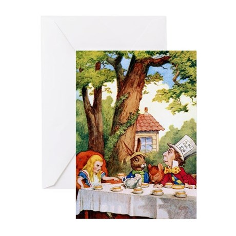 The Mad Hatter's Tea Party Greeting Cards (Pk of 2