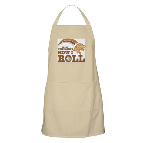 irish wolfhound's how I roll BBQ Apron