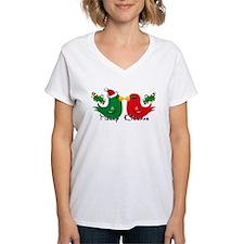 Lovebirds Merry Kissmas Shirt