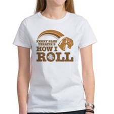 kerry blue terrier's how I roll Tee