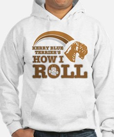 kerry blue terrier's how I roll Hoodie