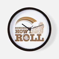 komondor's how I roll Wall Clock