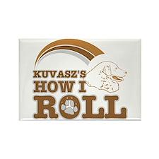 kuvasz's how I roll Rectangle Magnet (10 pack)