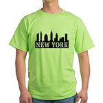 New York Skyline Green T-Shirt