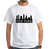 New york skyline white Mens Classic White T-Shirts