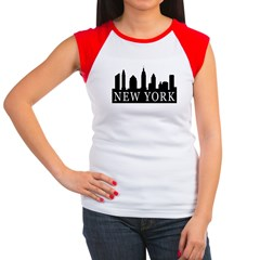 New York Skyline Women's Cap Sleeve T-Shirt