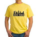 New York Skyline Yellow T-Shirt