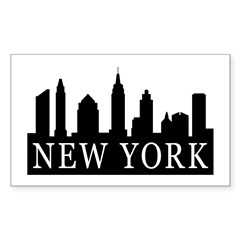 New York Skyline Rectangle Decal