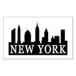 New York Skyline Rectangle Sticker