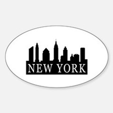 New York Skyline Oval Decal