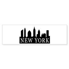 New York Skyline Bumper Bumper Sticker