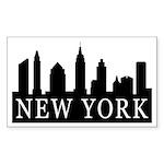 New York Skyline Rectangle Sticker 10 pk)