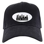 New York Skyline Black Cap