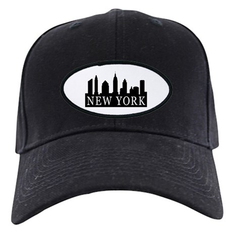 New York Skyline Black Cap