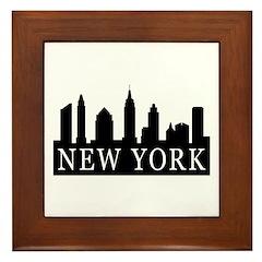 New York Skyline Framed Tile