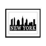 New York Skyline Framed Panel Print