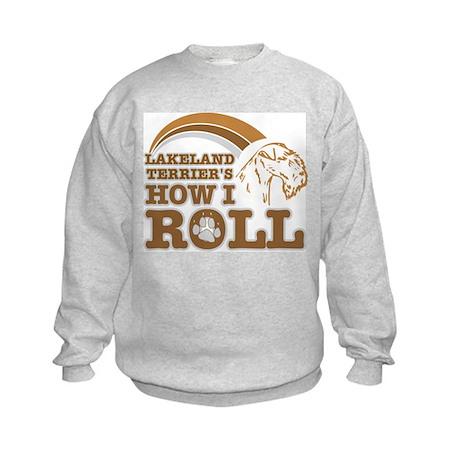 lakeland terrier's how I roll Kids Sweatshirt