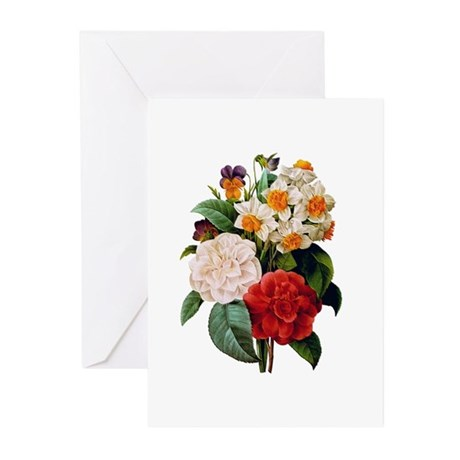 CAMELIA BOUQUET Greeting Cards (Pk of 20)
