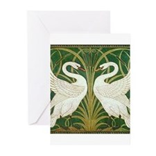 SWANS GREEN Greeting Cards (Pk of 20)