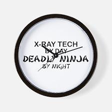 X-Ray Tech Deadly Ninja Wall Clock