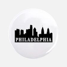 "Philadelphia Skyline 3.5"" Button"