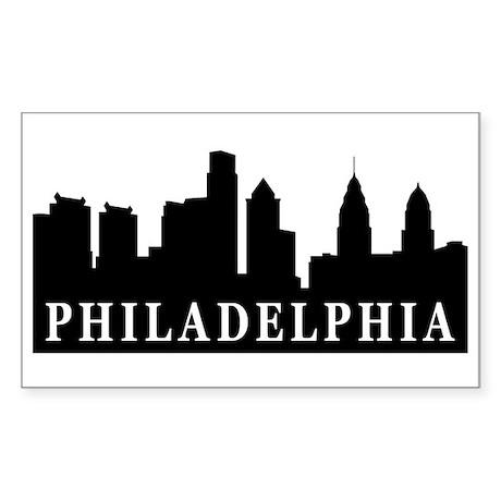 Philadelphia Skyline Rectangle Sticker