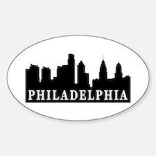 Philadelphia Skyline Oval Decal