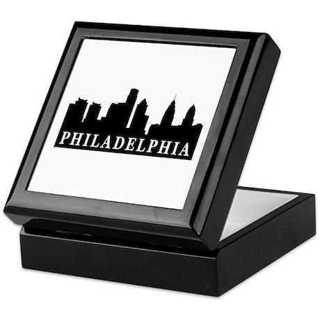 Philadelphia Skyline Keepsake Box