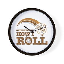 otterhound's how I roll Wall Clock