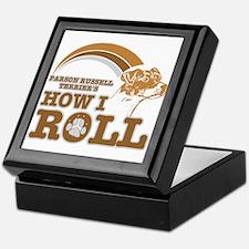 parson russell terrier's how I roll Keepsake Box