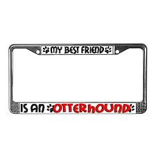 Otterhound License Plate Frame