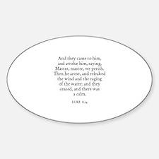 LUKE 8:24 Oval Decal